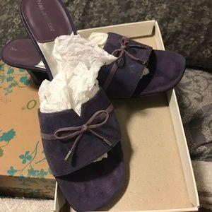 Purple Slip On Sandals